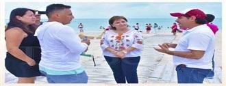 Supervisa DIF Campeche instalaciones de la playa incluyente, Playa Bonita width=
