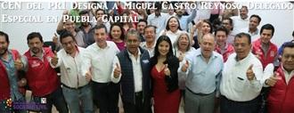 Designa Ruiz Massieu a Castro Reynoso como delegado del CEN en Puebla Capital. width=