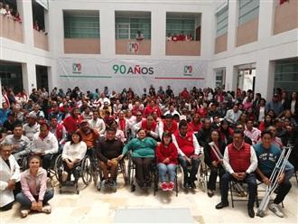Hidalgo y Nuevo León, replican obras de accesibilidad emprendidas en el PRI Nacional width=