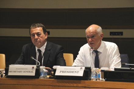 Reunión del Consejo de la Internacional Socialista en las Naciones Unidas, Nueva York.