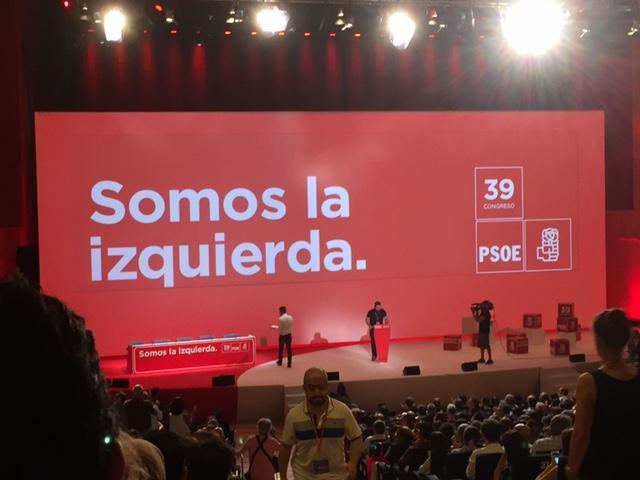 39° Congreso Nacional del PSOE en Madrid, España.