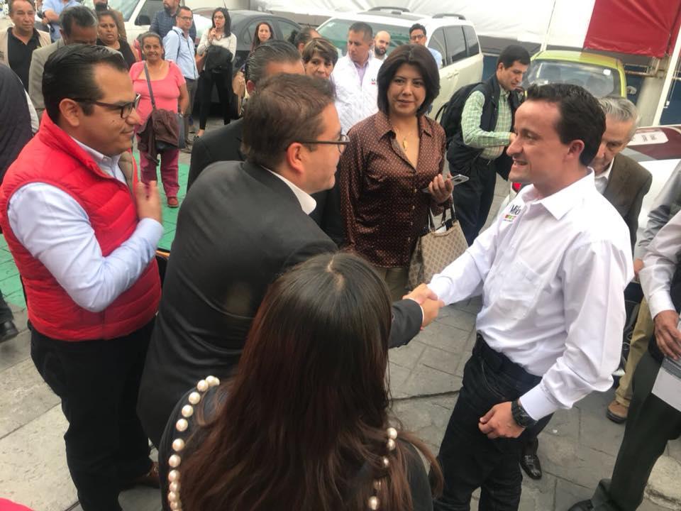Con Mikel Arreola el día que tuve el honor de ser nombrado Responsable de la Secretaría de Acción Electoral.