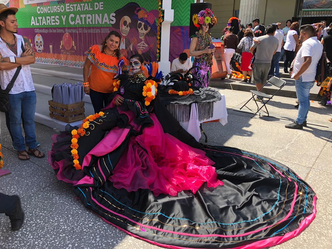 Concurso estatal de Altares y Catrinas, en el Estado de Guerrero