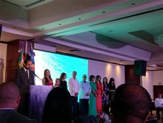 Celebración del 176° aniversario de la independencia de República Dominicana.