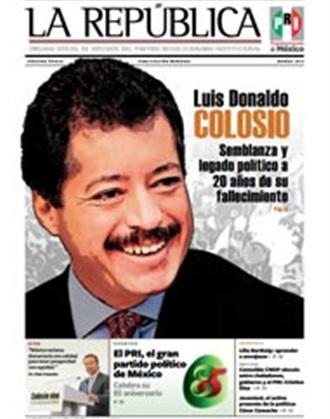 República - Luis Donaldo Colosio Semblanza y Legado Político a 20 años de su fallecimiento