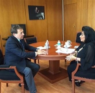 El Secretario General de la Internacional Socialista IS, Sr. Luis Ayala, realizó una visita a las oficinas de la SAI.