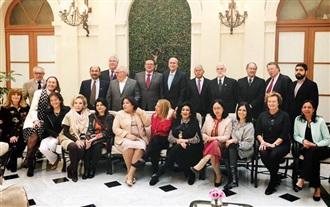 Comida de despedida al Embajador de Paraguay.