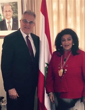 Visita al Embajador de Libano en México.
