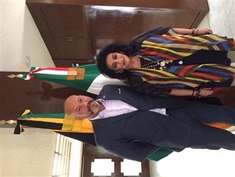 Reunión con el Embajador de Jamaica.