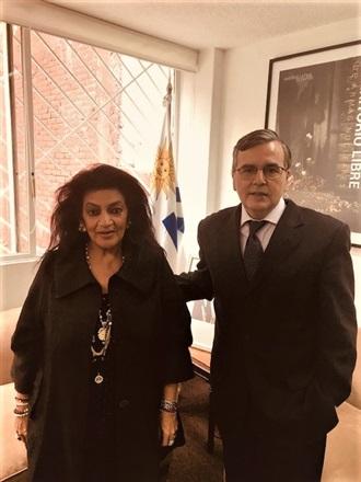 Visita al Embajador de Uruguay en México.