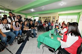 CONFERENCIA DE PRENSA DE LA PRESIDENTA DEL CEN DEL PRI, CLAUDIA RUIZ MASSIEU, EN AGUASCALIENTES