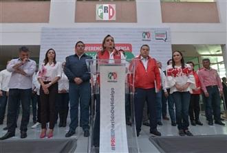 CONFERENCIA DE PRENSA OFRECIDA POR CLAUDIA RUIZ MASSIEU, EN EL PRI HIDALGO