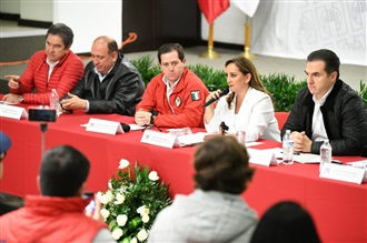 CONFERENCIA DE PRENSA DE CLAUDIA RUIZ MASSIEU, PRESIDENTA DEL CEN DEL PRI, REALIZADA EN MONTERREY, NUEVO LEÓN.