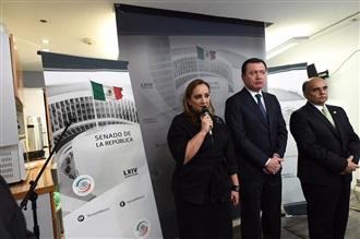 CONFERENCIA DE PRENSA DE LOS SENADORES CLAUDIA RUIZ MASSIEU, MIGUEL ÁNGEL OSORIO CHONG Y MANUEL AÑORVE BAÑOS.