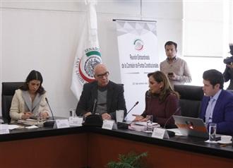 ENTREVISTA E INTERVECIÓN DE CLAUDIA RUIZ MASSIEU EN COMISIÓN DE PUNTOS CONSTITUCIONALES DEL SENADO.