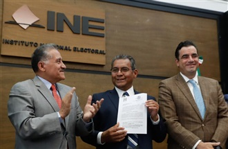 REGISTRO DE JIMÉNEZ MERINO COMO CANDIDATO DEL PRI A LA GUBERNATURA DE PUEBLA.