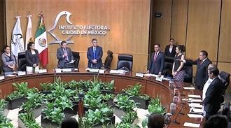 TOMA PROTESTA RENÉ VIVANCO BALP COMO REPRESENTANTE DEL PRI ANTE EL CONSEJO GENERAL DEL IECM.