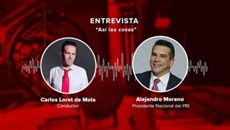 """ENTREVISTA A ALEJANDRO MORENO EN """"ASÍ LAS COSAS"""" CON CARLOS LORET DE MOLA 13/08/20"""