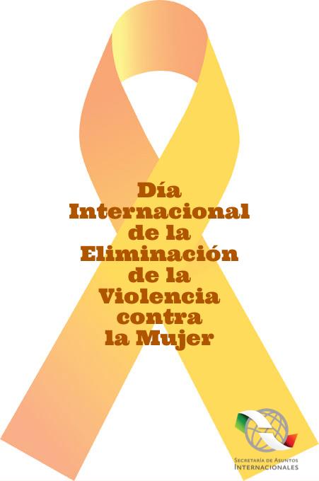 hoy es el Día Internacional de la Eliminación de la Violencia contra la Mujer?