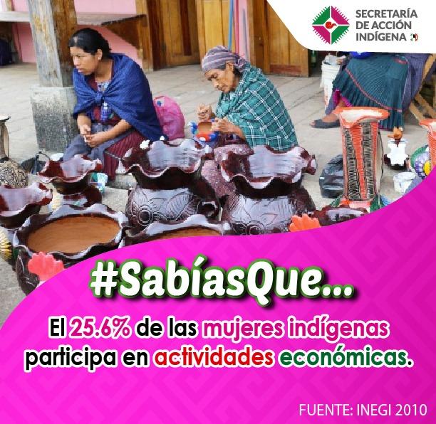 Participación económica de las mujeres indígenas