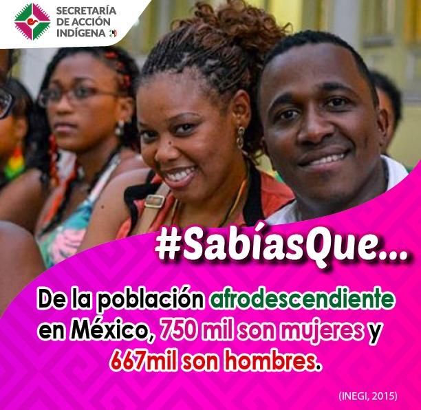 Al menos un millón de personas en nuestro país, se autoidentifican como afromexicanas...
