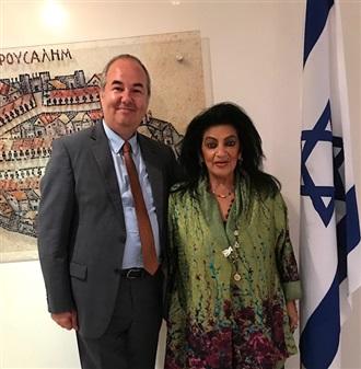 REUNIÓN CON EL EMBAJADOR DE ISRAEL.