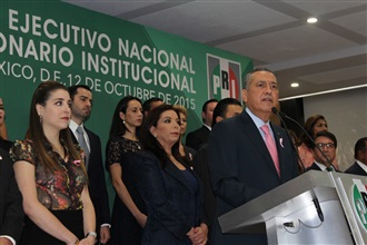 PALABRAS DEL LIC. MANLIO FABIO BELTRONES R., PRESIDENTE DEL COMITÉ EJECUTIVO NACIONAL DEL PRI, DURANTE LA ...