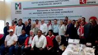 REUNIÓN DE TRABAJO CON LA ESTRUCTURA DEL DEPORTE EN TAMAULIPAS