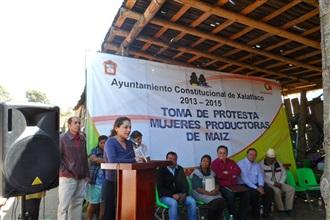 TOMA DE PROTESTA DE LA REPRESENTANTE DE ASOCIACIÓN AGRÍCOLA LOCAL DE MUJERES PRODUCTORAS DE MAÍZ, MUNICIPI...