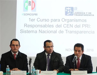 PRIMER CURSO PARA ORGANISMOS RESPONSABLES EN MATERIA DE TRANSPARENCIA Y RENDICIÓN DE CUENTAS